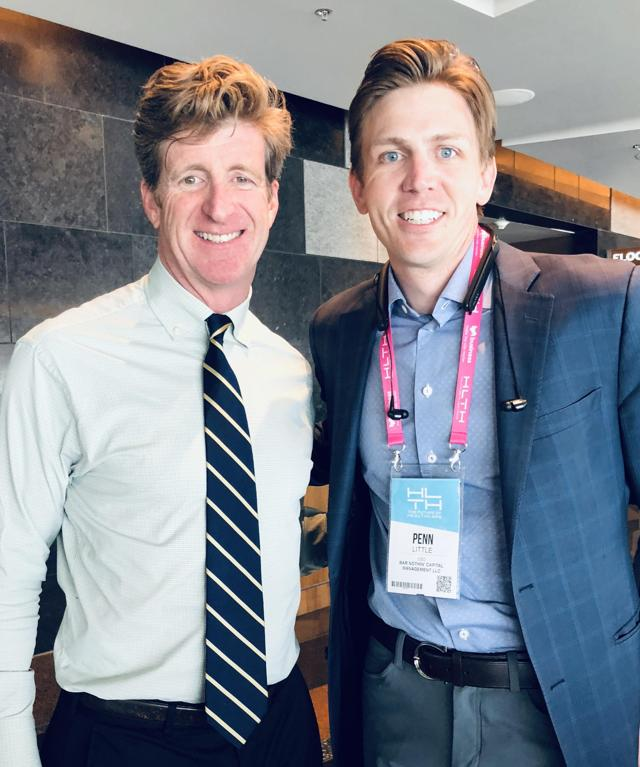 Penn (right) with Pat Kennedy. HLTH Conference, Las Vegas, 2018.