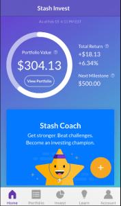 Stash invest app star