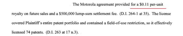 Immersion corporation Motorola settlement