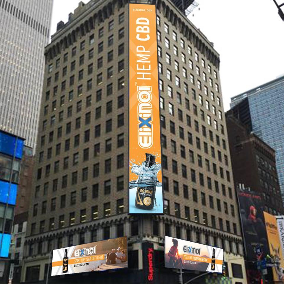 Elixinol Times Square Ads